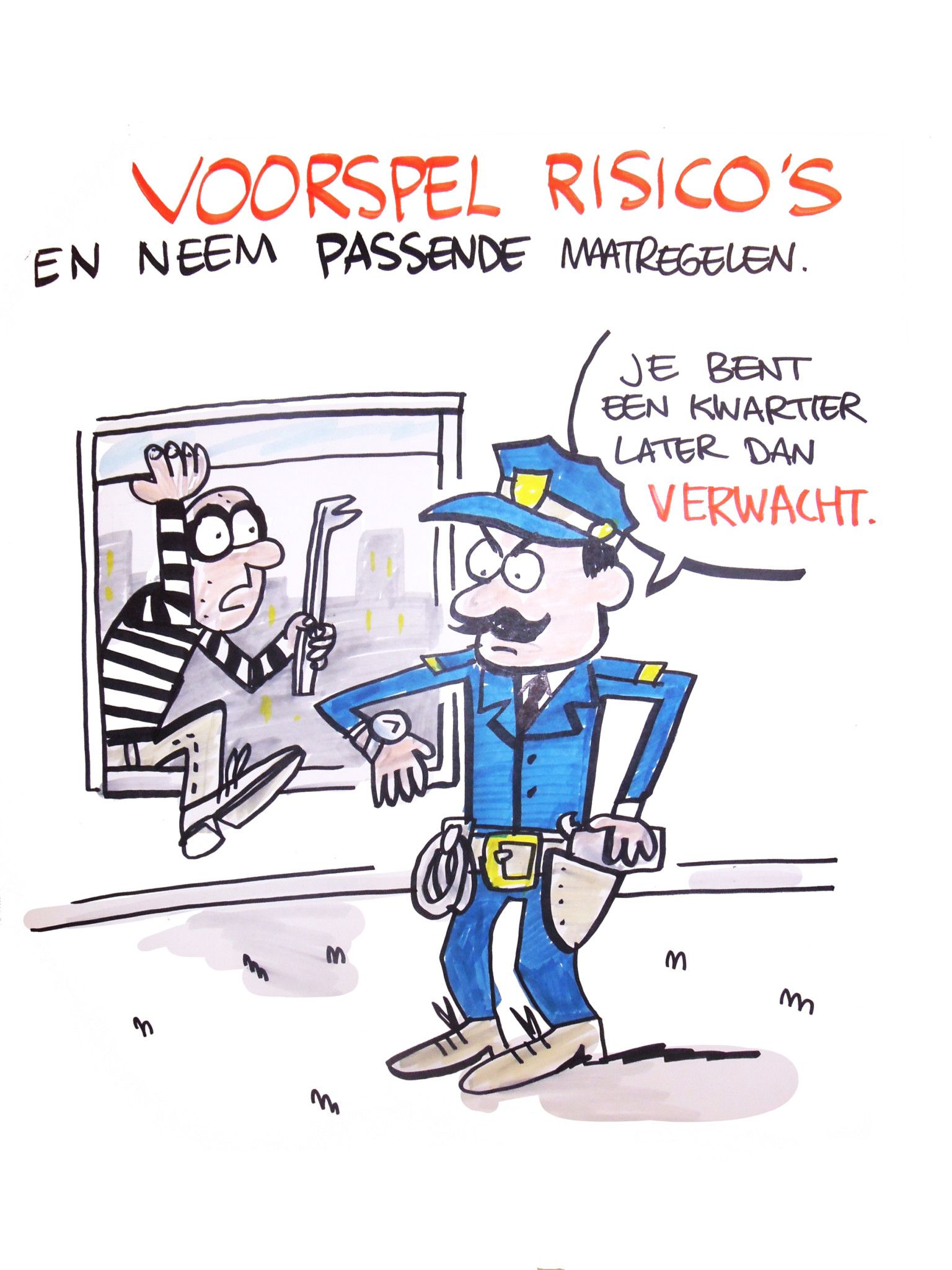 Voorspel Risico's – live cartoon – ComicHouse