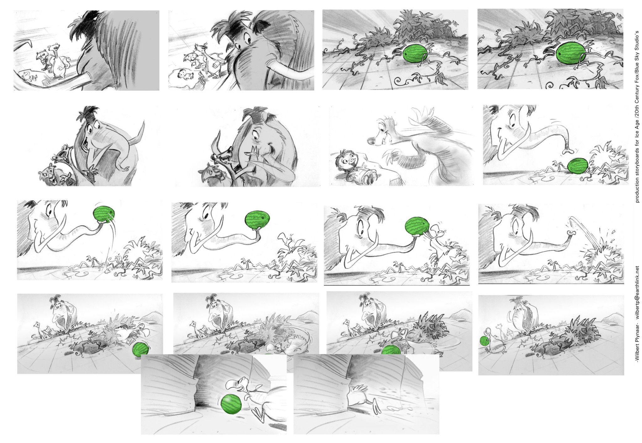 Storyboard Ice Age 1 Comichouse
