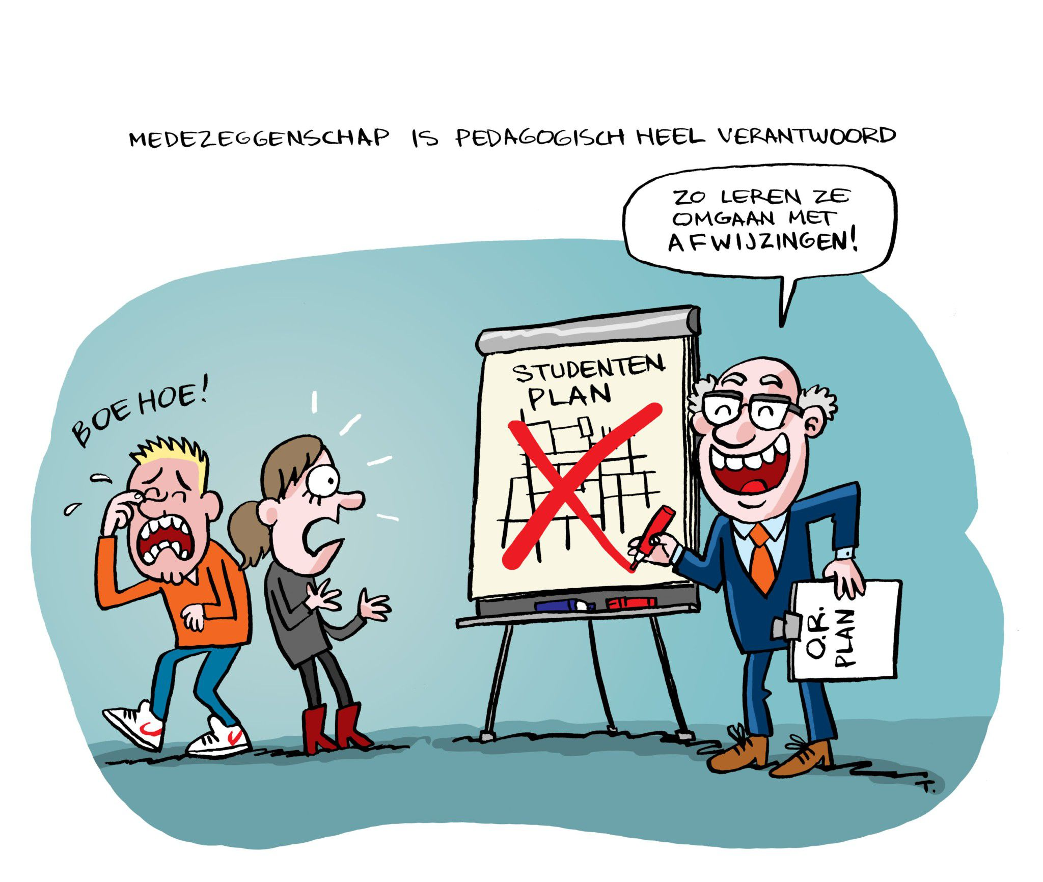 Medezeggenschap Studenten Cartoon ComicHouse